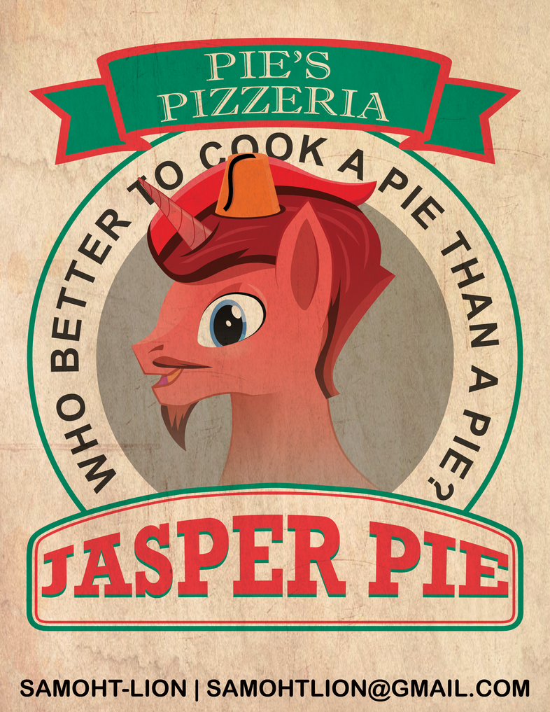Jasper Pie Pizza Box Badge By Samoht Lion