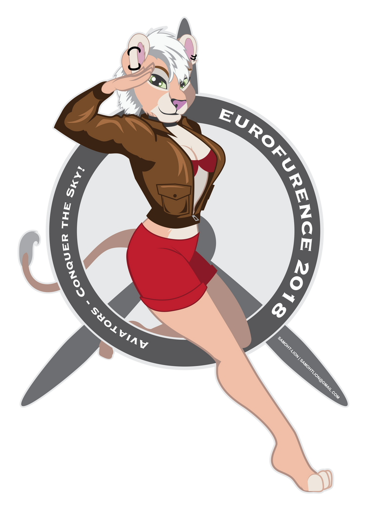 Eurofurence Lioness Pinup by Samoht-Lion