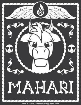 Mahari Day of the Dead Badge