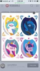 Four Equestrian Princesses  by Samoht-Lion