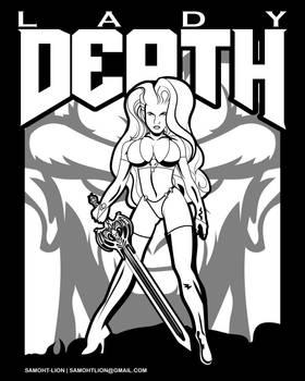 Lady Death Doom Coloring Book Page