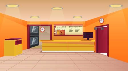 Pizza Shop Background by Samoht-Lion