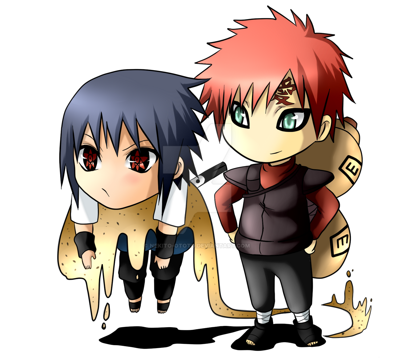 Sasuke and Gaara chibi x3 by nekito-ototo on DeviantArt Gaara And Naruto Chibi