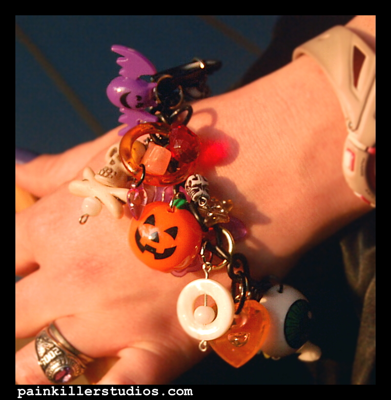 Halloween Charm Bracelet by PainkillerStudios