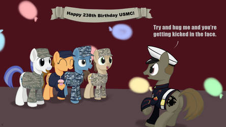 National Hug a Marine Day! by MidwestBrony