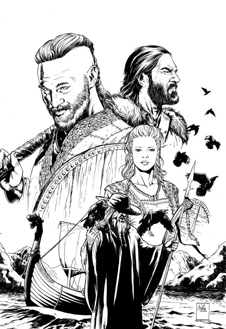 History Channel Vikings 1 Cover By ARIELAkris