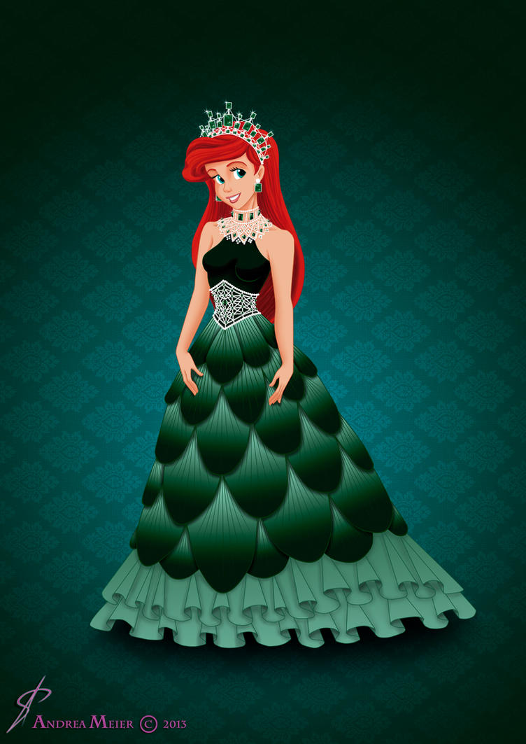 how to draw ariel dress