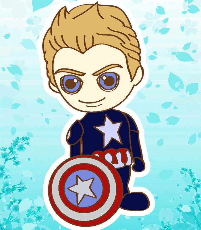 Captain America chibi by allamandaphotography