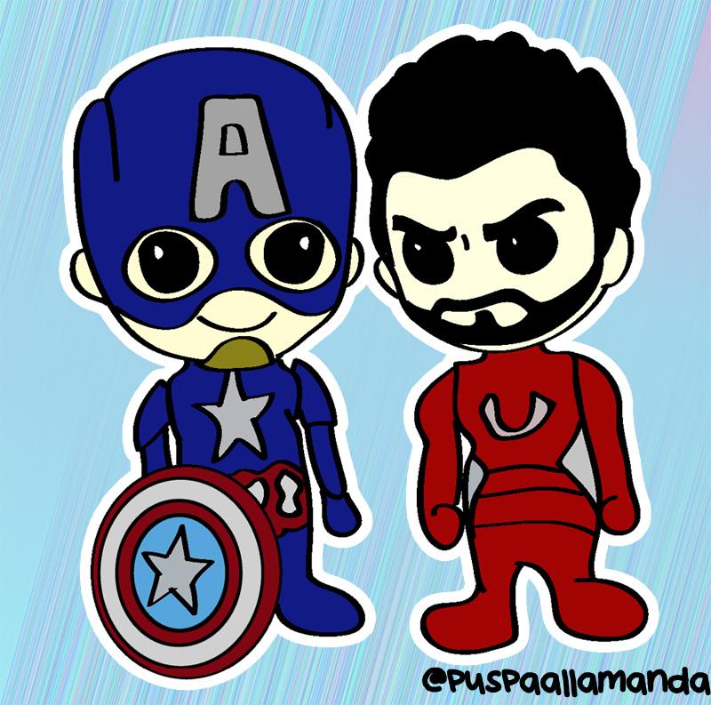 Captain America Civil War chibi by allamandaphotography