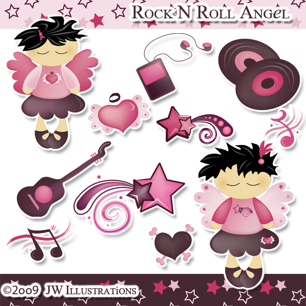 Rock N Roll Angel Clipart by jdDoodles on DeviantArt