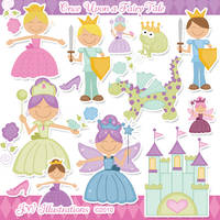 Once Upon a Fairy Tale Clipart by jdDoodles