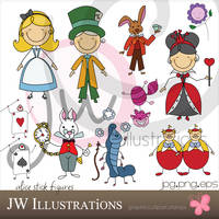 Alice in Wonderland Stick Figu by jdDoodles