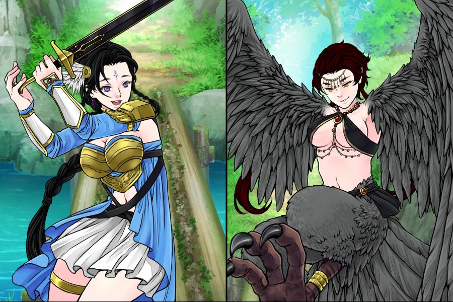 Suki vs Monster by SweetChaosDreamer