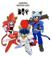 Samurai British cats -color by meromex-102