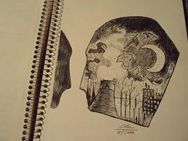 pen sketch by dinosawrawr