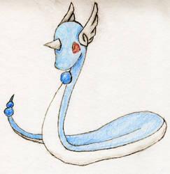 Drawn Dragonair by DragonSoulSong