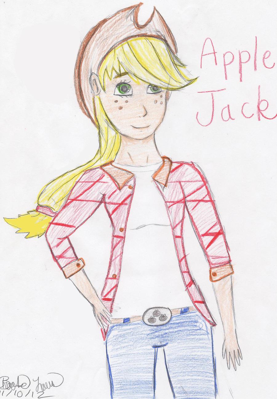 Human Applejack by Smovegirl