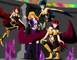 Duelist Catfight 1: Mai and Harpie Lady Sisters