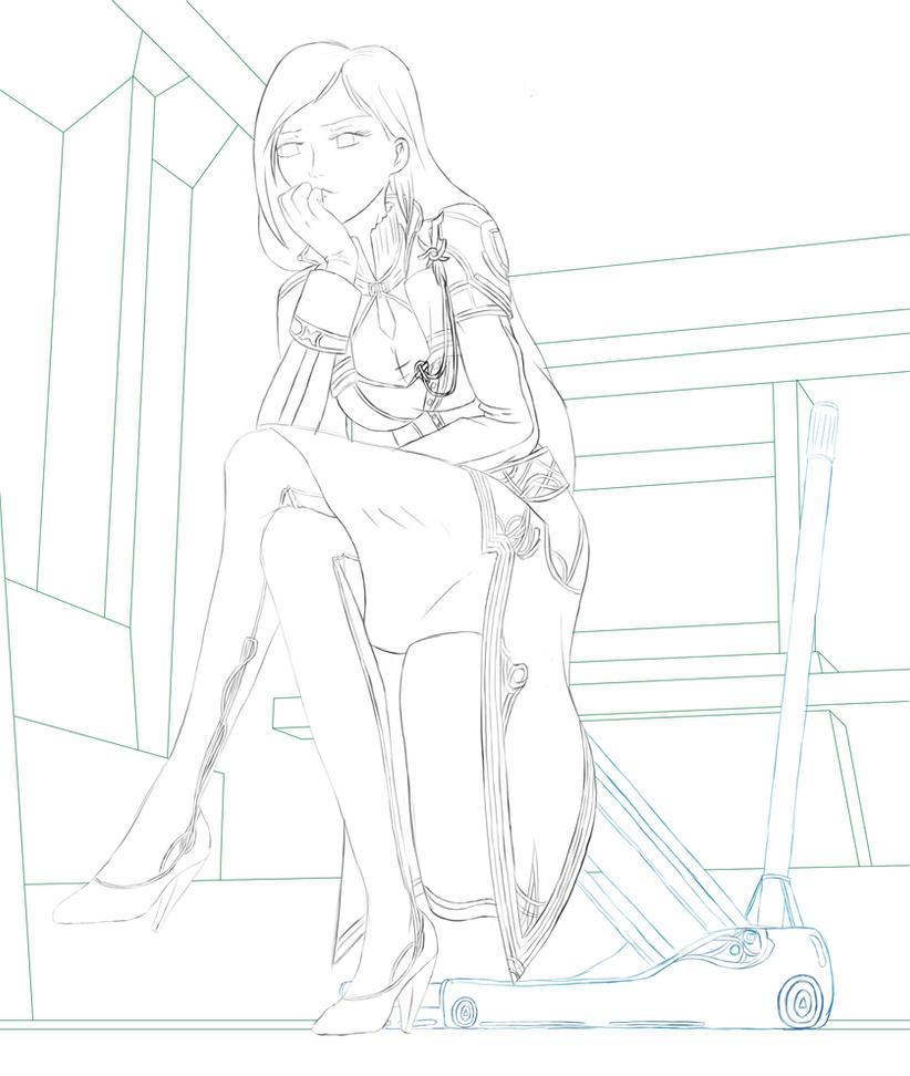 FF13 Jihl Nabaat Sketch by NightrunnerXM