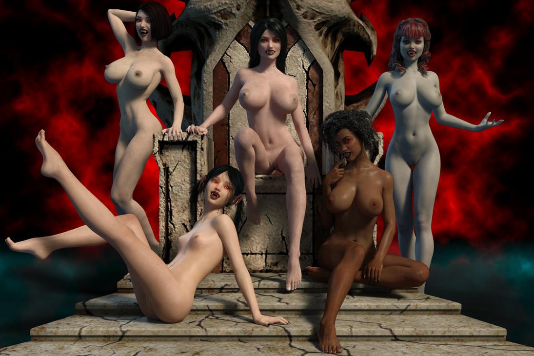 Vampire Harem (Nude Version) by FollyFool