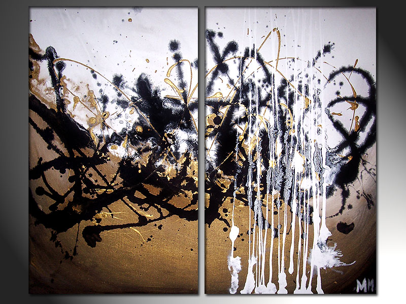 gold abstract mess by murrayjenkins