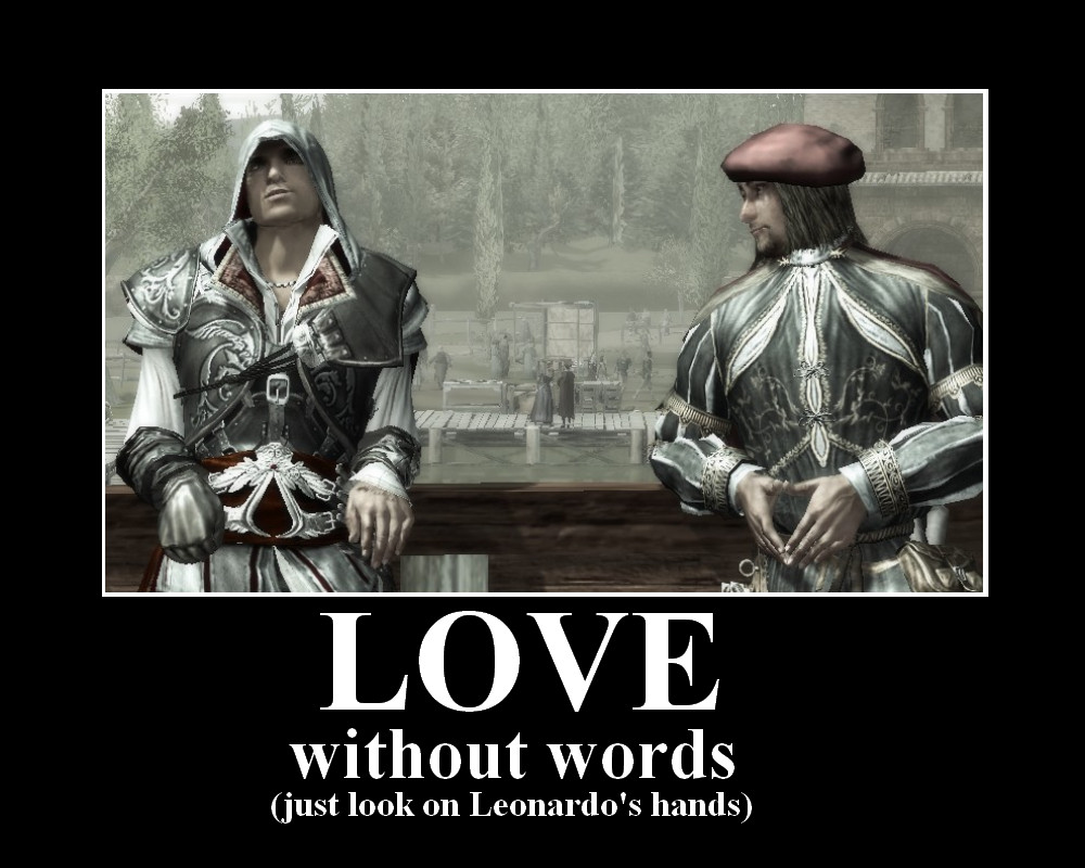 Ezio and Leonardo love by Lady-Stage