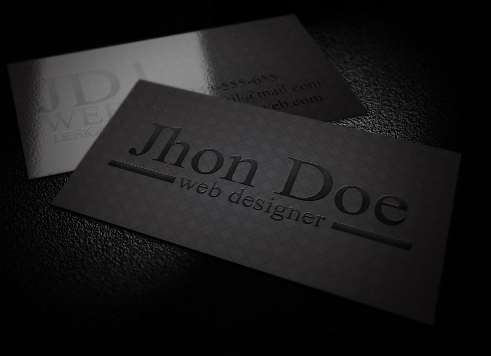 Elegant Black Business Card by graphcoder on DeviantArt