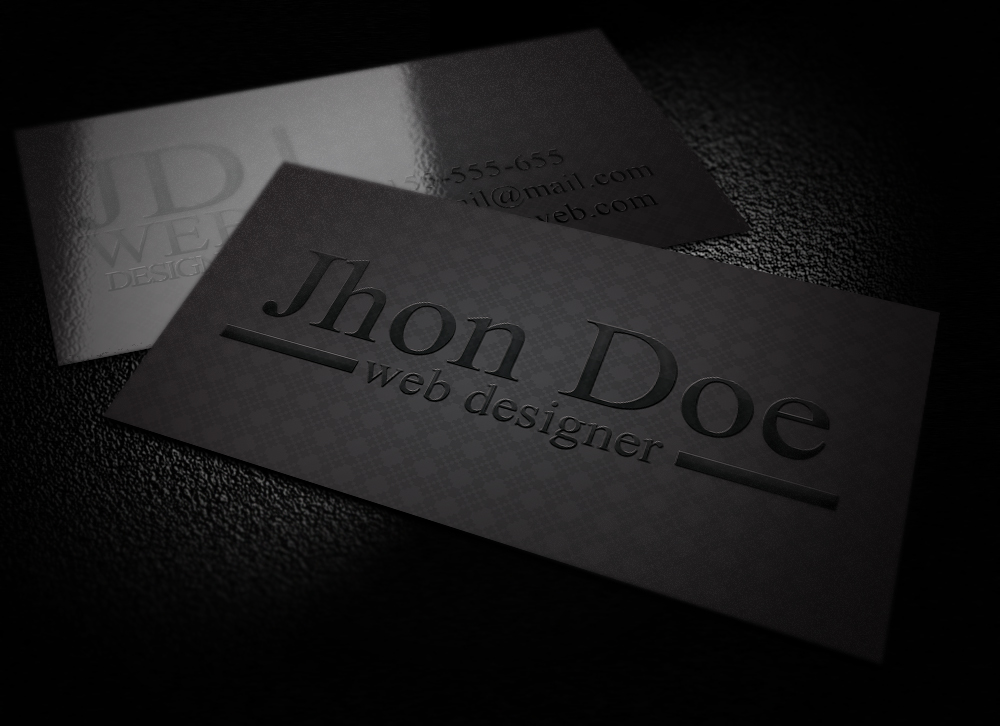 Elegant Black Business Card by graphcoder