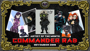 Artist of the Month, November 2019 - COMMANDER RAB by X--DoubleHeart--X