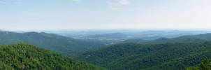 Blue Ridge Mountains Panorama by Dracoart-Stock