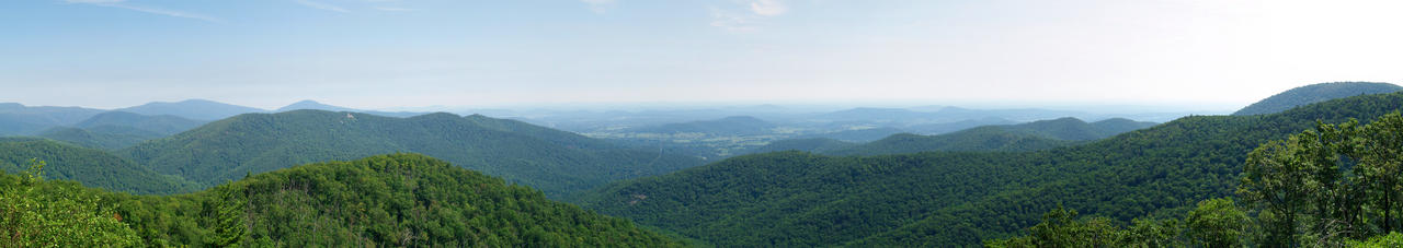 Blue Ridge Mountains Panorama by Dracoart-Stock