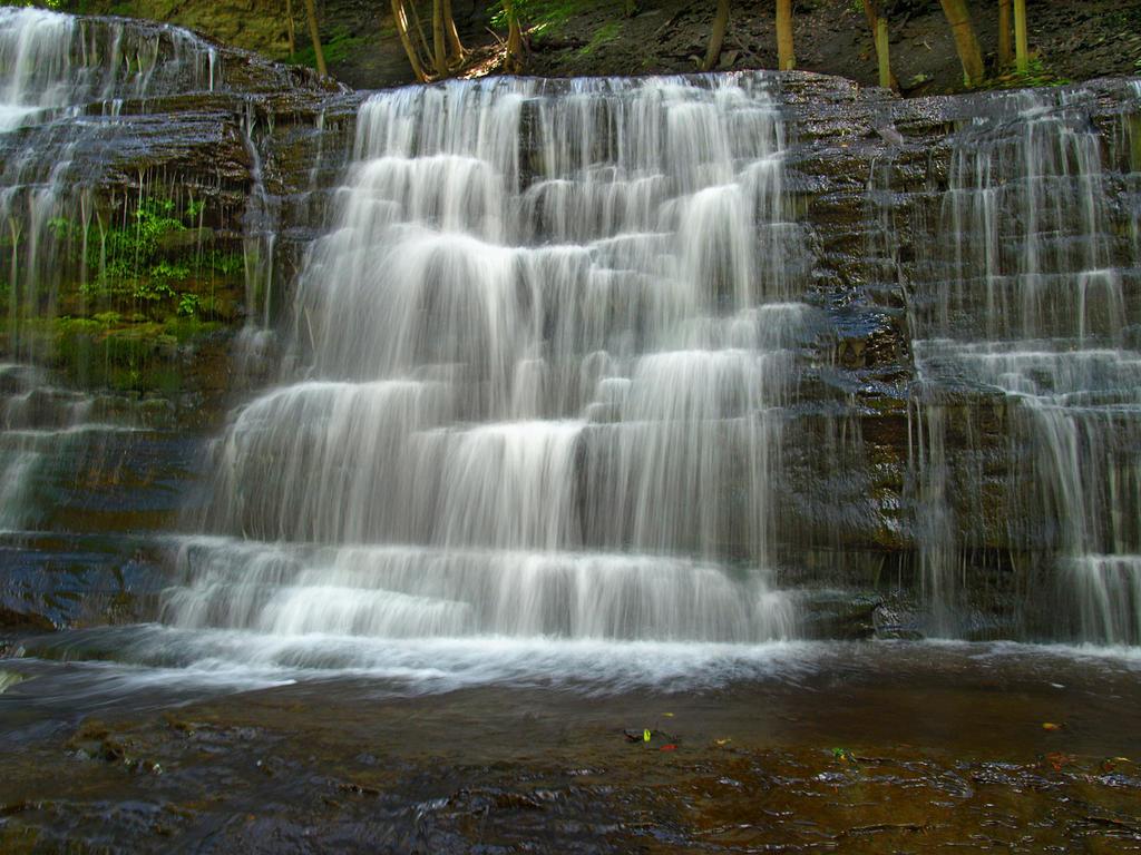 Cascadilla Gorge Falls 16 by Dracoart-Stock