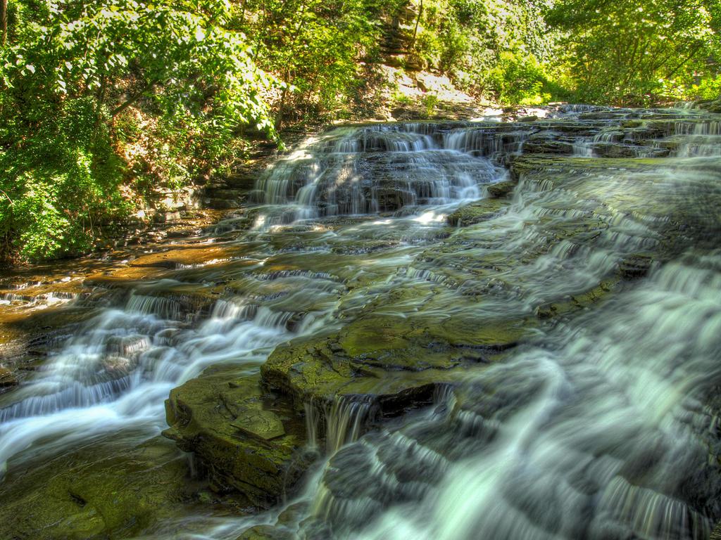Cascadilla Gorge Falls 25 by Dracoart-Stock