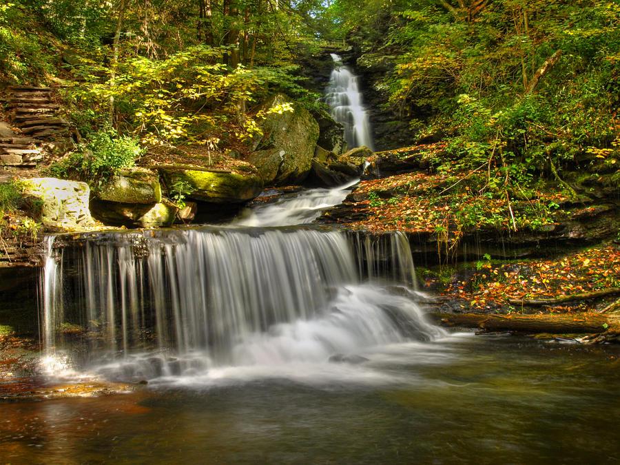 Ricketts Glen State Park 33 by Dracoart-Stock