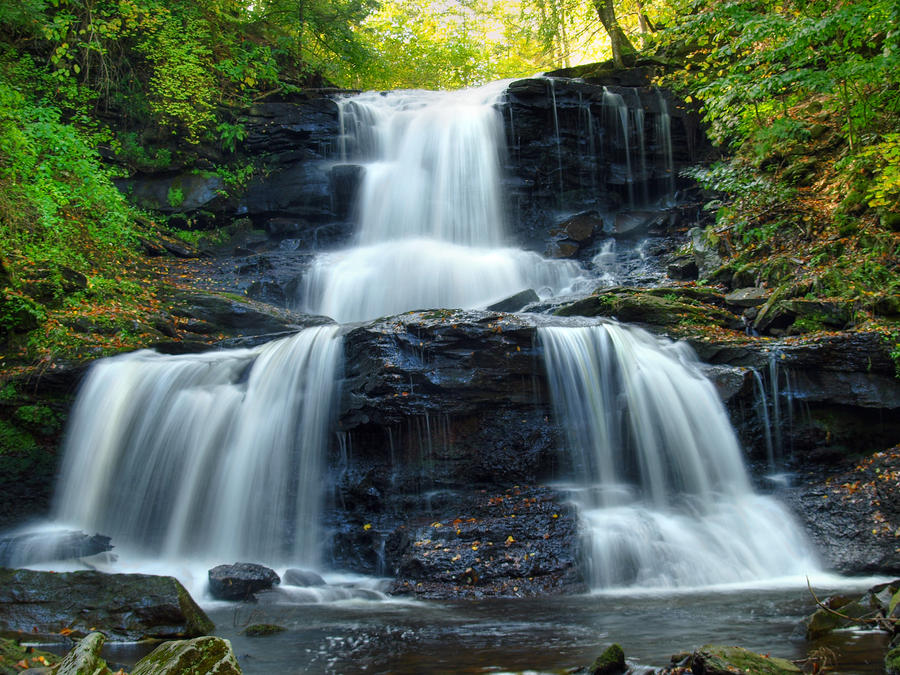 Ricketts Glen State Park 63 by Dracoart-Stock
