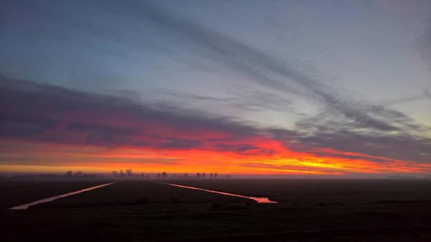 Dutch winter evening