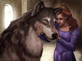 Sansa and Lady by VVjonez