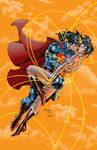 Jim Lee Superman  Wonderwoman