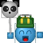 Panda Balloon Fanart by Krissi001