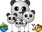 Panda-balloon Army by Krissi001