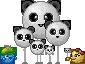 Panda-balloon Army by Krissi001
