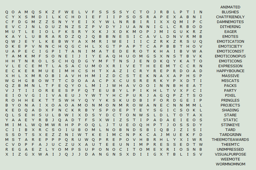 Difficult Word Searches Word Search by Krissi001