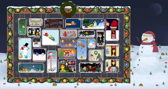Emoticonist advent calendar 2019 - letter 25 open