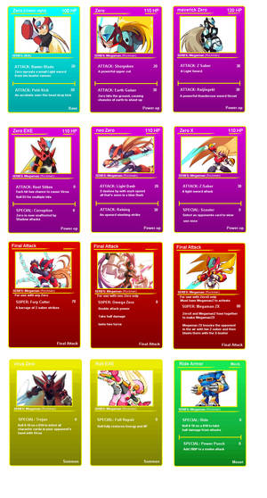 Zero battle cards
