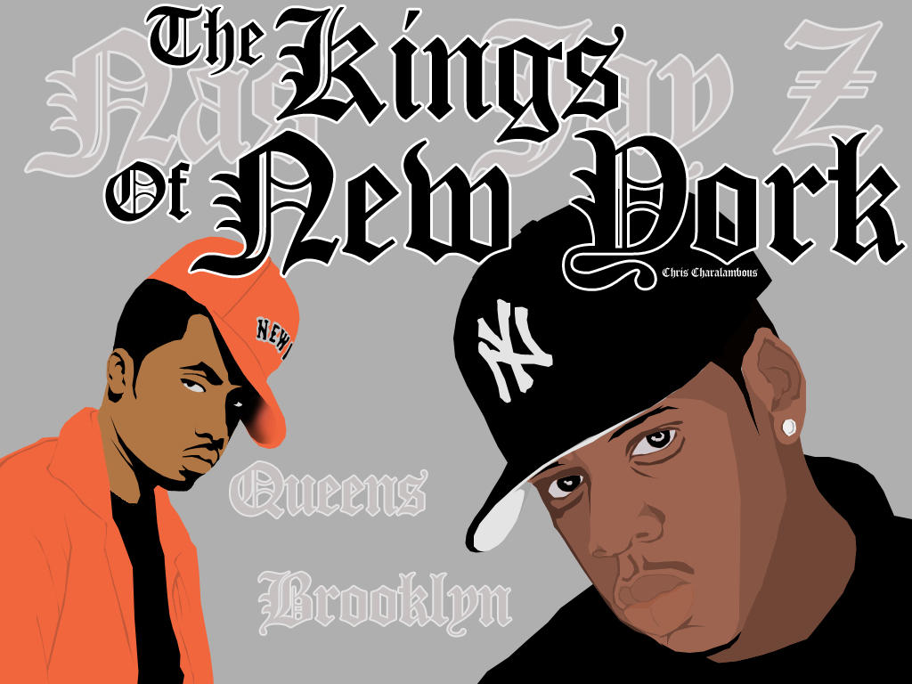 Jay Z and Nas by Graffiti-Artist