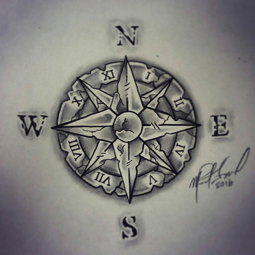 The weathered compass by KeysOf4