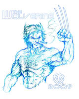 The Wolverine in Repose by BentWrenchStudios