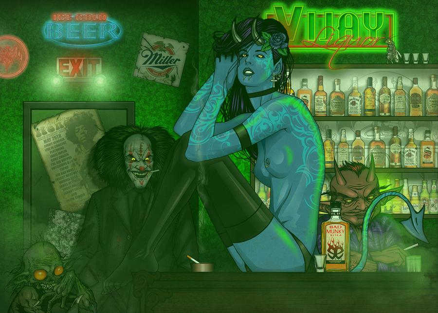 At the Blue Devil Bar Update by Revelationchapter9