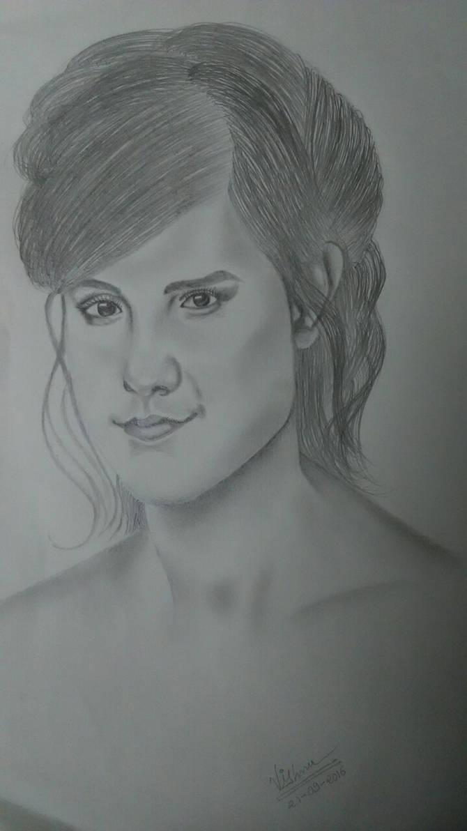 Drawing of Hollywood actress Emma Watson.
