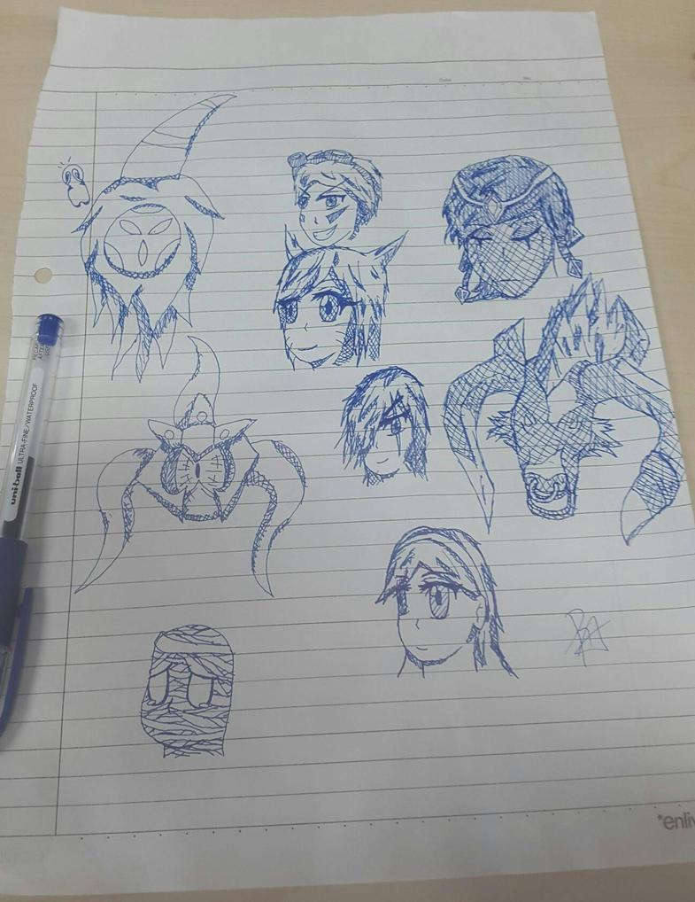 League of Legends Random Sketches by RisingAlpha78